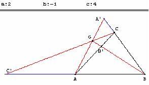 Barycentre de (A, 2); (B, -1)et (C, 4)