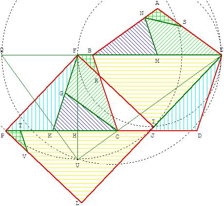 Transformation du pentagone régulier en carré